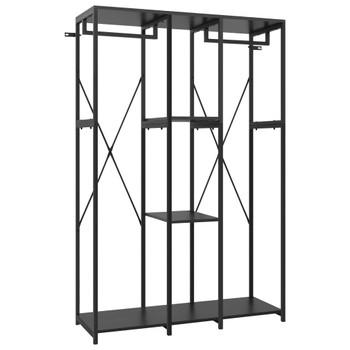 vidaXL Ormar crni 110 x 40 x 167 cm od metala i iverice