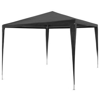 vidaXL Šator za zabave od PE-a 3 x 3 m antracit