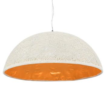 vidaXL Viseća svjetiljka bijelo-zlatna Ø 70 cm E27