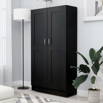 vidaXL Ormarić za knjige crni 82,5 x 30,5 x 150 cm od iverice