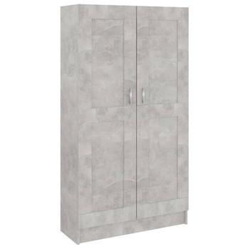 vidaXL Ormarić za knjige siva boja betona 82,5 x 30,5 x 150 cm iverica
