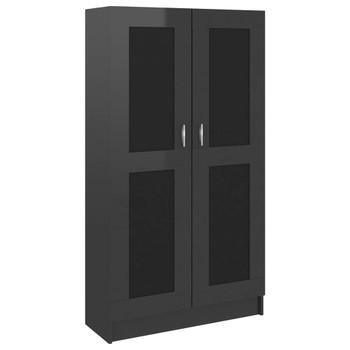vidaXL Ormarić za knjige visoki sjaj crni 82,5 x 30,5 x 150 cm iverica