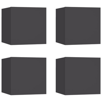 vidaXL Zidni TV ormarići 4 kom sivi 30,5 x 30 x 30 cm