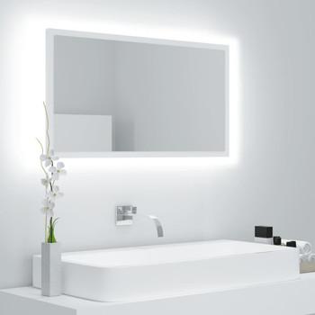 vidaXL LED kupaonsko ogledalo bijelo 80 x 8,5 x 37 cm od iverice
