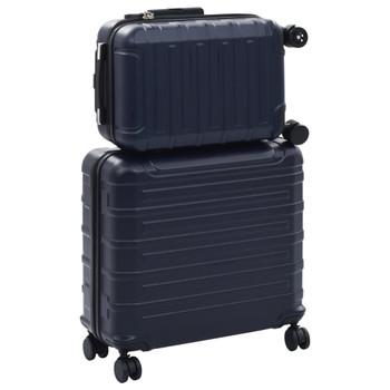 vidaXL 2-dijelni set čvrstih kovčega modri ABS