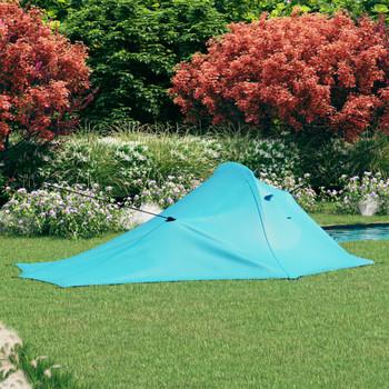 vidaXL Šator za kampiranje 317 x 240 x 100 cm plavi