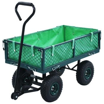 vidaXL Vrtna ručna kolica zelena 250 kg