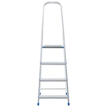 vidaXL Aluminijske ljestve s 4 stepenice 150 kg