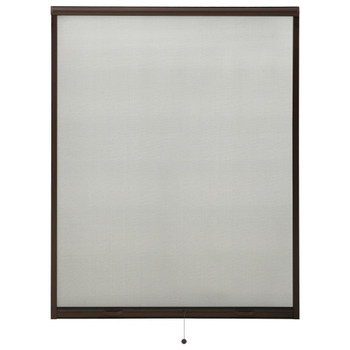 vidaXL Zaslon protiv insekata za prozore smeđi 140 x 170 cm