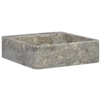 vidaXL Umivaonik sivi 40 x 40 x 12 cm mramorni
