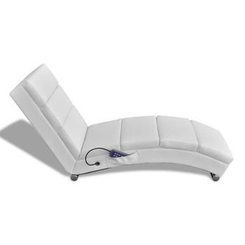 vidaXL Masažni ležaj od umjetne kože bijeli