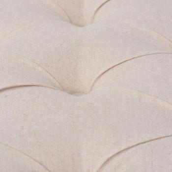 vidaXL Klupa od tkanine i masivnog drva 150x40x48 cm krem bijela