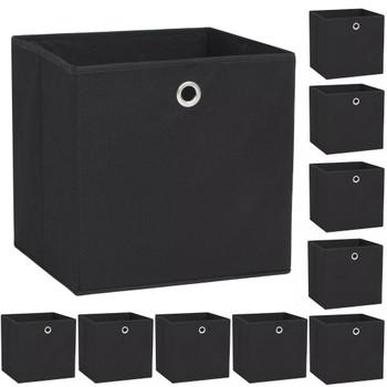 vidaXL Kutije za pohranu od netkane tkanine 10 kom 32x32x32 cm crne