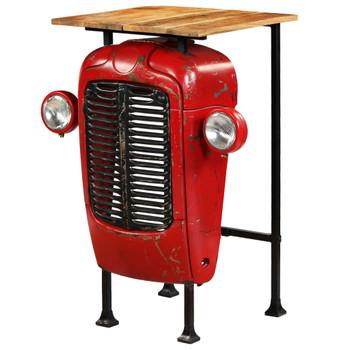 vidaXL Barski stol u obliku traktora od masivnog drva manga crveni 60 x 60 x 107 cm