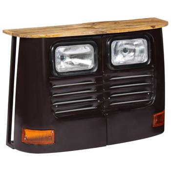vidaXL Komoda u obliku kamiona od masivnog drva manga tamno siva
