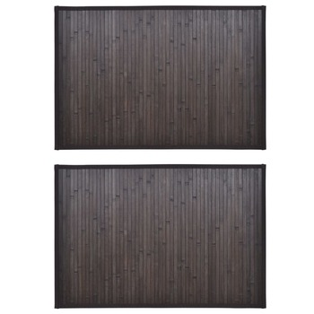 vidaXL Prostirke za kadu od bambusa 2 kom 60 x 90 cm tamnosmeđe