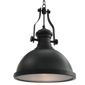 vidaXL Stropna svjetiljka crna okrugla E27