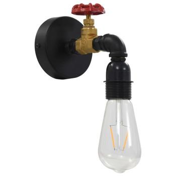 vidaXL Zidna svjetiljka s dizajnom slavine crna E27