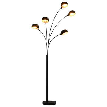 vidaXL Stojeća svjetiljka 200 cm 5 x E14 crno-zlatna