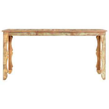 vidaXL Blagovaonski stol od masivnog obnovljenog drva 160 x 80 x 76 cm
