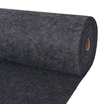 vidaXL Svečani tepih rebrasti 1,6 x 20 m antracit