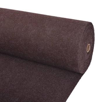 vidaXL Svečani tepih rebrasti 1,6 x 10 m smeđi