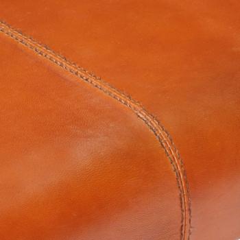 vidaXL Klupa od prave kozje kože 120 cm crno-smeđa