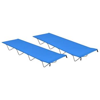 vidaXL Kreveti za kampiranje 2 kom 180x60x19 cm tkanina i čelik plavi