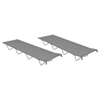 vidaXL Kreveti za kampiranje 2 kom 180x60x19 cm tkanina i čelik sivi