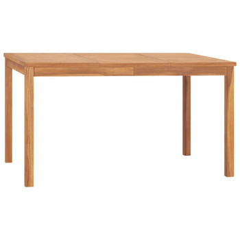vidaXL Vrtni blagovaonski stol 140 x 80 x 77 cm od masivne tikovine