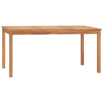 vidaXL Vrtni blagovaonski stol 160 x 80 x 77 cm od masivne tikovine