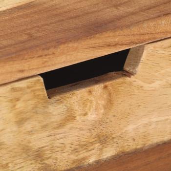 vidaXL Komoda od masivnog drva s obradom od šišama 110 x 35 x 75 cm