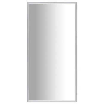 vidaXL Ogledalo srebrno 120 x 60 cm