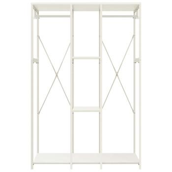 vidaXL Ormar bijeli 110 x 40 x 167 cm od metala i iverice