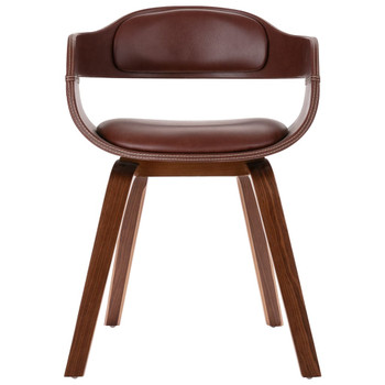 vidaXL Blagovaonska stolica smeđa od savijenog drva i umjetne kože