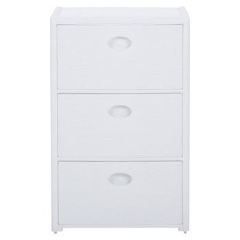 vidaXL Škrinja s 3 ladice bijela 40 x 40 x 60 cm