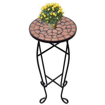 Bočni stol uzorkom mozaika, boje terakote