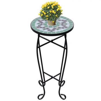 Bočni stol uzorkom mozaika, zelene i bijele boje