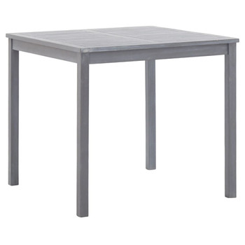 vidaXL Vrtni stol sivi 80 x 80 x 74 cm od masivnog bagremovog drva