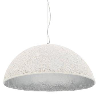 vidaXL Viseća svjetiljka bijelo-srebrna Ø 70 cm E27