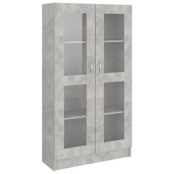 vidaXL Vitrina siva boja betona 82,5 x 30,5 x 150 cm od iverice