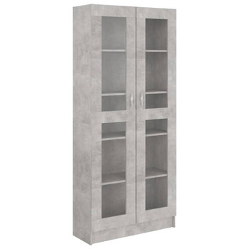 vidaXL Vitrina siva boja betona 82,5 x 30,5 x 185,5 cm od iverice