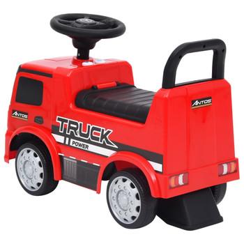 vidaXL Dječji automobil Mercedes-Benz kamion crveni