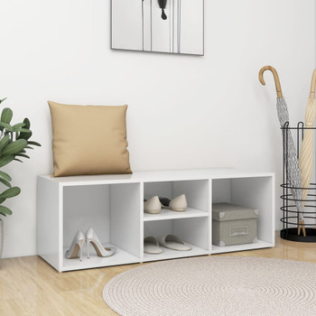 vidaXL Klupa za spremanje obuće bijela 105 x 35 x 35 cm od iverice