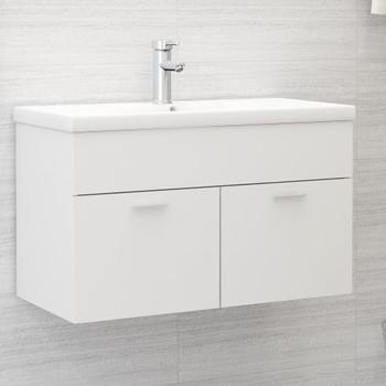 vidaXL Ormarić za umivaonik bijeli 80 x 38,5 x 46 cm od iverice