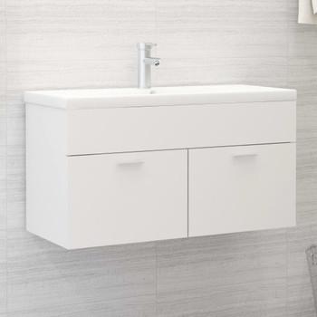 vidaXL Ormarić za umivaonik bijeli 90 x 38,5 x 46 cm od iverice