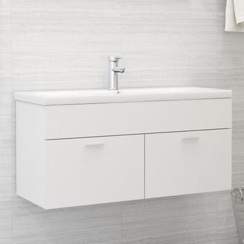 vidaXL Ormarić za umivaonik bijeli 100 x 38,5 x 46 cm od iverice