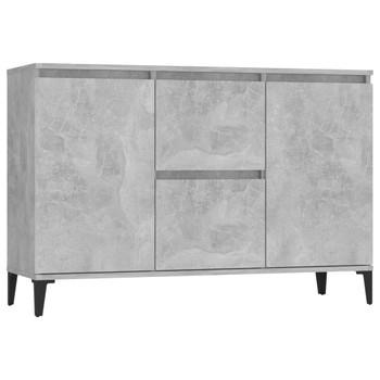 vidaXL Komoda siva boja betona 104 x 35 x 70 cm od iverice