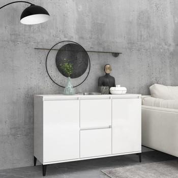 vidaXL Komoda visoki sjaj bijela 104 x 35 x 70 cm od iverice