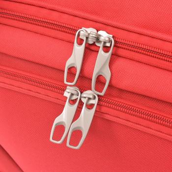 vidaXL 3-dijelni set prtljage crveni